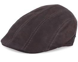 Maddy Nappa Wax Brown Flat Cap - MJM Hats