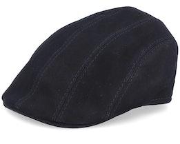 Maddy Nappa Wax Black Flat Cap - MJM Hats