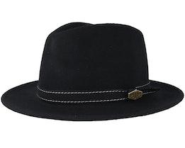 CPH Wool Felt Black Fedora - MJM Hats