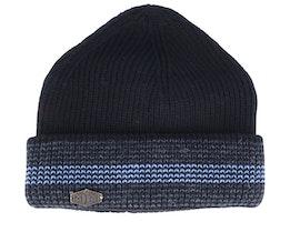 3c Wool Mix Black/Grey/Light Blue Cuff - MJM Hats