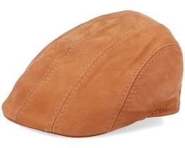 Maddy Nappa Wax Cognac Flat Cap - MJM Hats