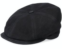 Artist Blue Line Nappa Wax Black Flat Cap - MJM Hats
