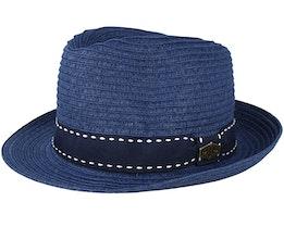 Barcelona Paper Navy Trilby - MJM Hats
