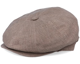 Montreal Linen Brown Flat Cap - MJM Hats