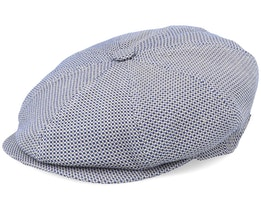 Blindy Cotton Mix Blue Dot Flat Cap - MJM Hats