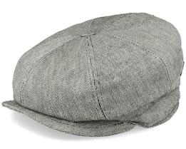 Montreal Linen Mix Green Flat Cap - MJM Hats