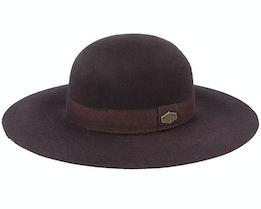 Masha W Wool Felt Brown Sun Hat - MJM Hats