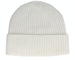 Beanie 100% Merino Wool Off White Cuff - MJM Hats
