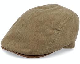 Daffy 3 Cotton Brown Flat Cap - MJM Hats