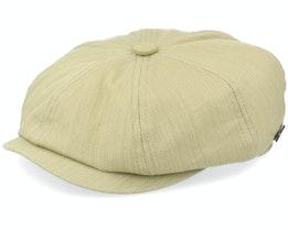 Slub 58042 Cotton Olive Flat Cap - MJM Hats