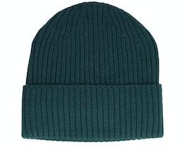 Beanie 100% Merino Wool Flannen Green Cuff - MJM Hats