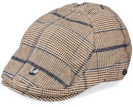 Chap Duckbill Brown/Navy Flat Cap - Upfront