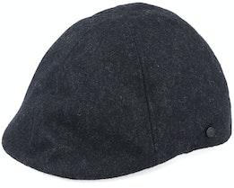 Dan Dark Grey Melange Duckbill Flat Cap - Upfront