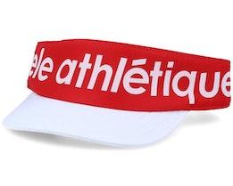 SC Athletique Empire Red/White Visor - Ciele