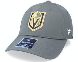 Vegas Golden Knights Primary Logo Core Flex Fit Fitted Charcoal Flexfit - Fanatics