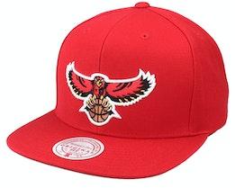 Atlanta Hawks Team Ground Hwc Red Snapback - Mitchell & Ness