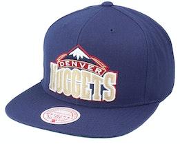 Denver Nuggets Team Ground Hwc Navy Snapback - Mitchell & Ness