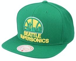 Seattle Supersonics Team Ground Hwc Green Snapback - Mitchell & Ness