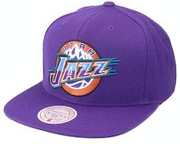 Utah Jazz Team Ground Hwc Purple Snapback - Mitchell & Ness
