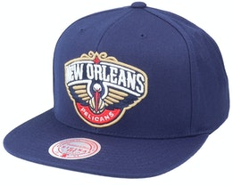 New Orleans Pelicans Team Ground Navy Snapback - Mitchell & Ness