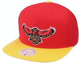 Atlanta Hawks Wool 2 Tone Hwc Red/Gold Snapback - Mitchell & Ness