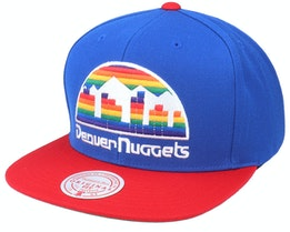 Denver Nuggets Wool 2 Tone Hwc Royal/Red Snapback - Mitchell & Ness