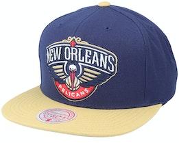 New Orleans Pelicans Wool 2 Tonek Green/Black Snapback - Mitchell & Ness