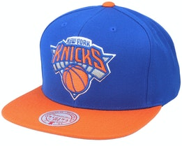 New York Knicks Wool 2 Tone Navy/Curry Snapback - Mitchell & Ness