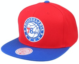 Philadelphia 76ers Wool 2 Tone Red/Royal Snapback - Mitchell & Ness