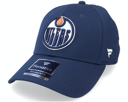 Edmonton Oilers Primary Logo Core Fitted Royal Flexfit - Fanatics