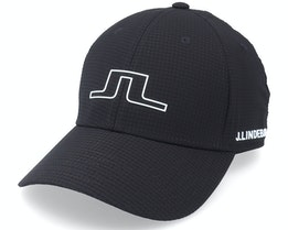 Caden Golf Cap Black Adjustable - J.Lindeberg