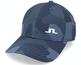 Camou Golf Print Cap Jl Navy Camo Adjustable - J.Lindeberg