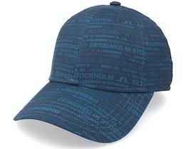 Jl Hq Print Cap Blue Adjustable - J.Lindeberg