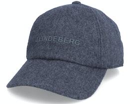 Elijah Flat Wool Cap Dark Grey Dad Cap - J.Lindeberg