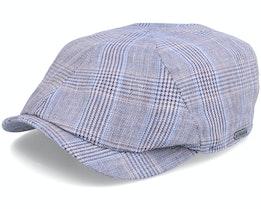 Newsboy Slim Cap Steel Blue Flat Cap - Wigéns