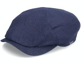 Newsboy Slim Cap Navy Flat Cap - Wigéns