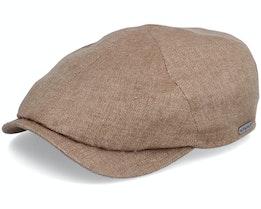 Newsboy Slim Cap Light Brown Flat Cap - Wigéns