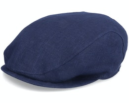 Ivy Slim Cap Navy Flat Cap - Wigéns