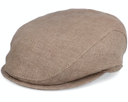 Ivy Slim Cap Light Brown Flat Cap - Wigéns