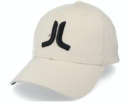 3D Embroidered Logo Stretch Fit Hat Beige Flexfit - Wesc