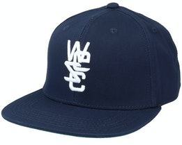 3D Embroidered Overlay Logo Hat Navy Snapback - Wesc