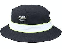 Packable Piped Bucket Hat Black Bucket - Wesc