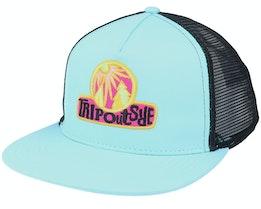 Trip Outside Applique Skater Mesh Back Hat Blue/Black Trucker - Wesc