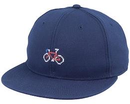 Stitch Bike Navy Snapback - Dedicated