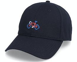 Sport Cap Stitch Bike Black Dad Cap - Dedicated