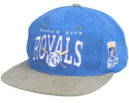 Kansas City Royals Arch Mlb Vintage Blue/Olive Snapback - Twins Enterprise