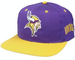 Minnesota Vikings Base Two Tone NFL Vintage Purple/Yellow Snapback - Twins Enterprise
