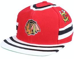 Chicago Blackhawks The Shirt NHL Vintage Red Snapback - Twins Enterprise