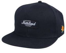 The Great Norrland Patch Cap Black/White Snapback - Sqrtn