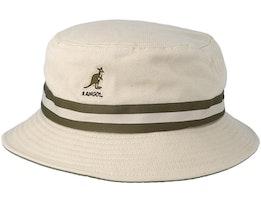 Stripe Lahinch Beige Bucket - Kangol